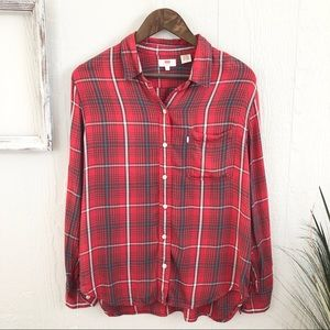 Levi's Red Plaid Button Down